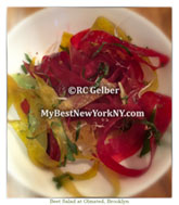 Beet Salad, Olmsted, Prospect Heights, Brooklyn, NY