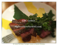 NY Grass Fed Steak, Tarragon, Lemon, Olmsted, Prospect Heights, Brooklyn, NY